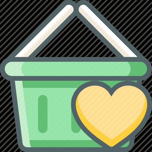 basket, bookmark, cart, favorite, heart, love, shopping icon