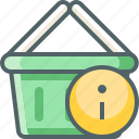 basket, cart, info, infomation, service, shopping, support icon