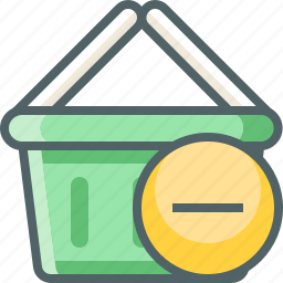 basket, cancle, cart, delete, minus, remove, shopping icon
