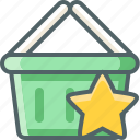 basket, bookmark, cart, favorite, like, shopping, star icon