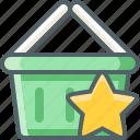 basket, shopping, star, bookmark, cart, favorite, like