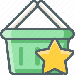 basket, bookmark, cart, favorite, like, shopping, star icon