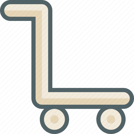 cart, luggage, shop, suitcase, trolley icon
