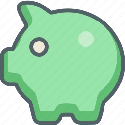 bank, business, financial, guardar, money, payment, piggy, save icon