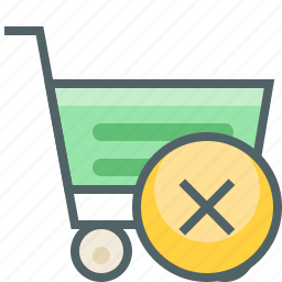 cancle, cart, close, delete, remove, shopping, trolley icon