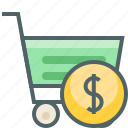 cart, currency, dollar, finance, money, shop, shopping icon