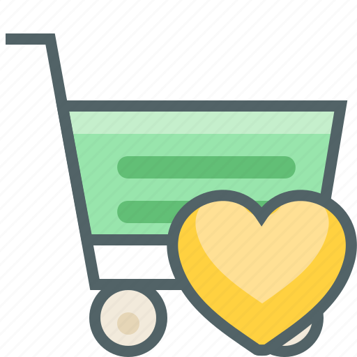 bookmark, cart, favourite, heart, love, shopping, trolley icon