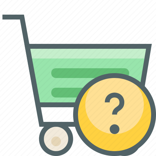 cart, help, question, service, shopping, support, trolley icon