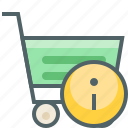 cart, info, infomation, service, shopping, support, trolley icon