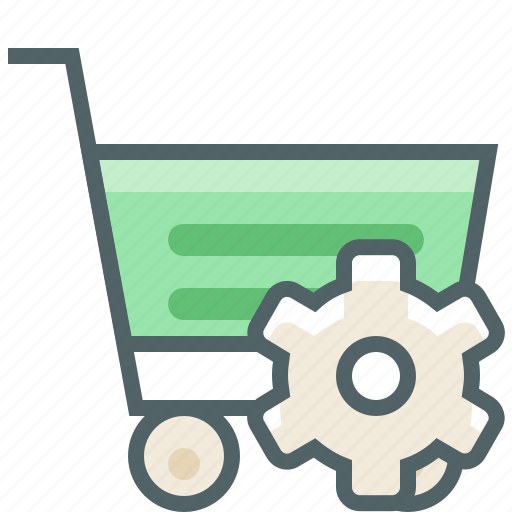 cart, options, preferences, setting, settings, shopping, trolley icon