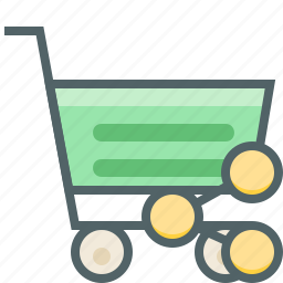 cart, cloud, ecommerce, network, share, shopping, trolley icon