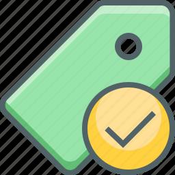 accept, check, label, mark, price, success, tag icon