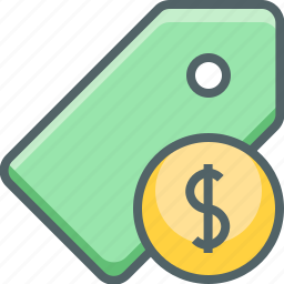 currency, dollar, label, money, payment, price, tag icon