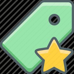 bookmark, favorite, label, like, price, star, tag icon