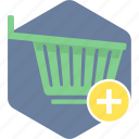 add, add to cart, basket, cart, shopping, to, trolley icon