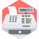 bill, billing, machine icon