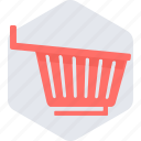 basket, cart, empty, online, shopping, trolley icon