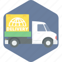 courier, delivery, delivery service, delivery truck, logistic, shipping, truck icon