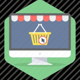 basket, cart, commerce, e, ecommerce, sale, shopping icon