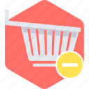 cart, eject, empty cart, remove from cart, to icon
