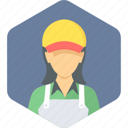 assistant, female, helper, sales, saleswoman, service, woman icon