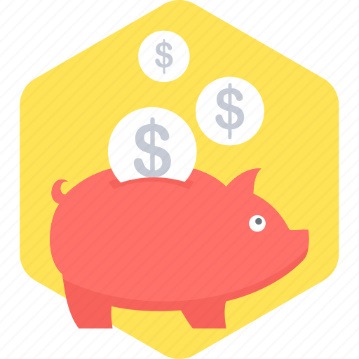 money, piggy bank, save, savings icon