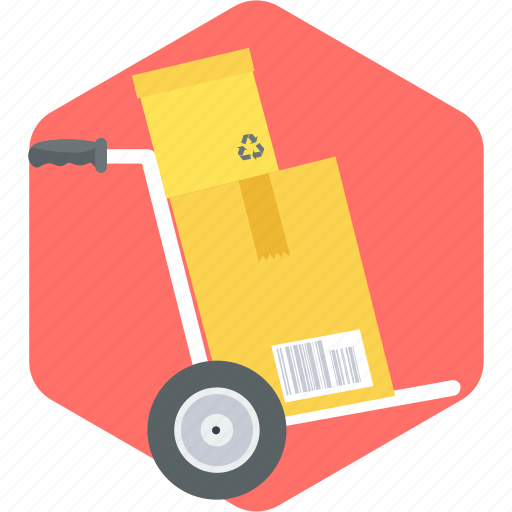 box, cargo, cart, package, shopping, supermarket, warehouse icon