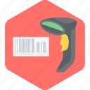 barcode, scanner, checking bill