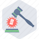 auction, bid, price, product bidding icon