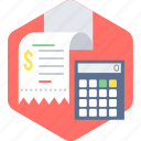 bill, billing, calculation, invoice, receipt, shopping icon