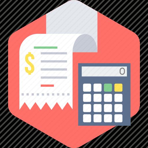 bill, billing, calculation, invoice, receipt, shopping icon
