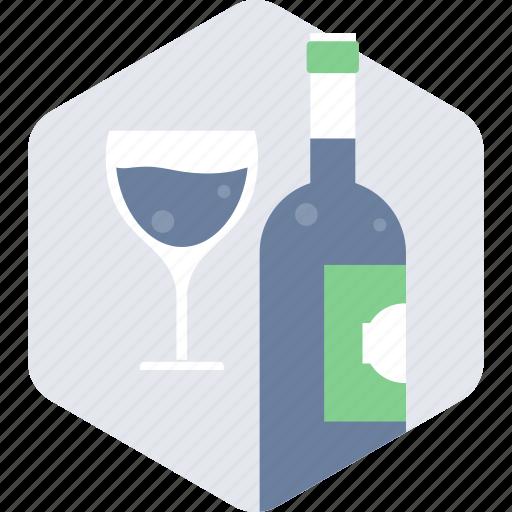 alcohol, beverage, bottle, drink, glass, restaurant, wine icon