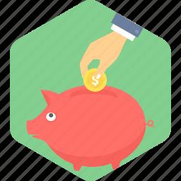 bank, money, piggy, saving, savings icon