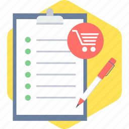 basket, cart, item, list, purchase items, shopping icon