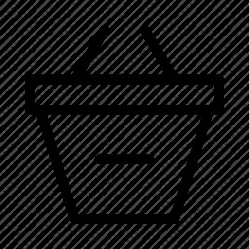 basket, commerce, market, remove, shop, supermarket icon