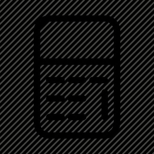 calculator, commerce, market, shop, supermarket icon