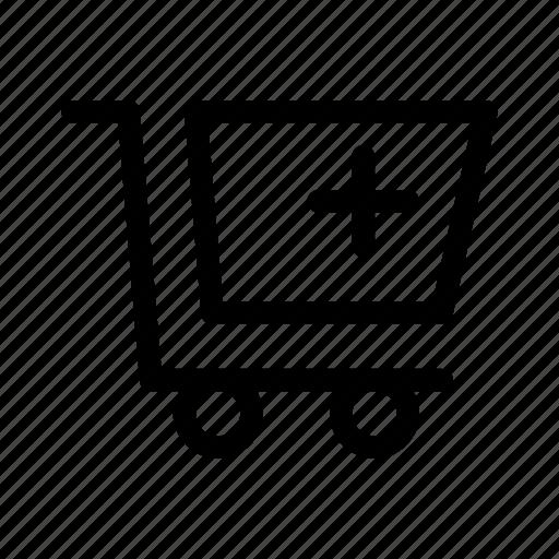add, cart, commerce, market, shop, supermarket icon