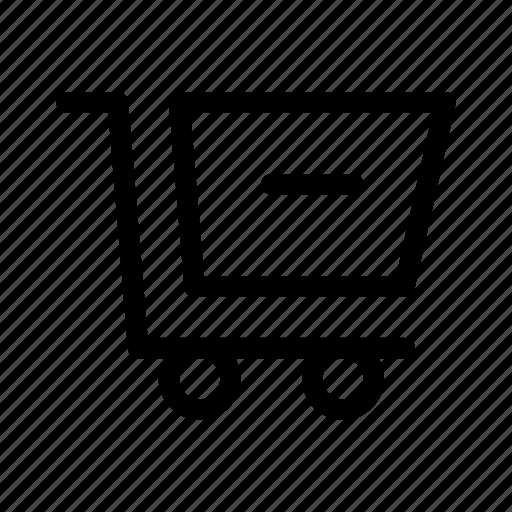 cart, commerce, market, remove, shop, supermarket icon
