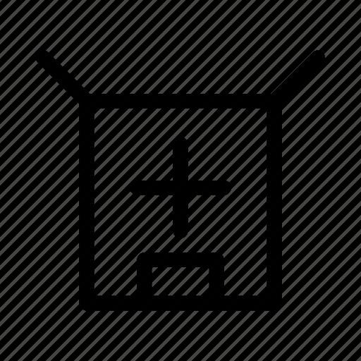 add, commerce, market, parcel, shop, supermarket icon