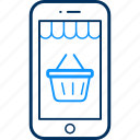 app, ecommerce, mobile, online, shopping, smartphone icon