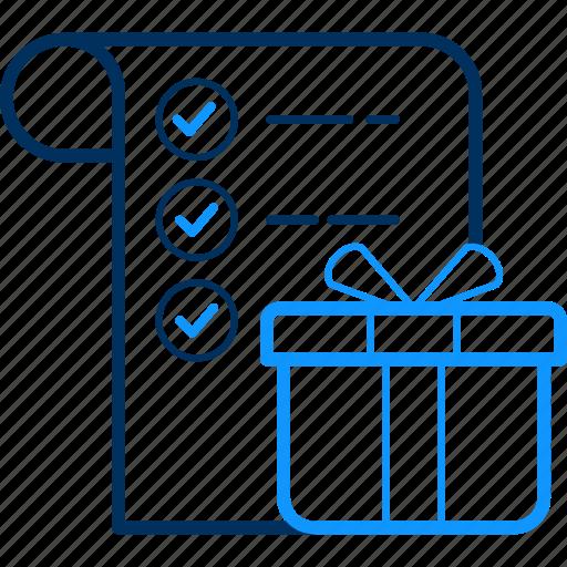 ecommerce, gift, item, list, shop, shopping icon