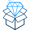 box, diamond, gift, present icon