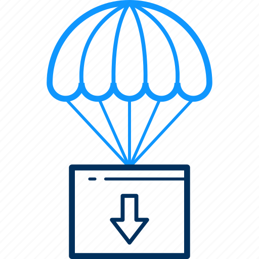 air, balloon, hot, parachute icon