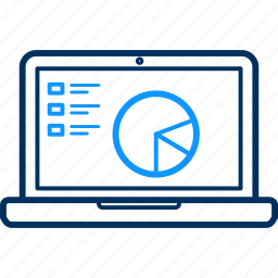 business, graph, laptop, monitor, screen icon