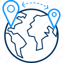 distance, global, gps, learning, locate us, location icon