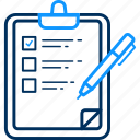 checklist, clipboard, report, tickmark icon