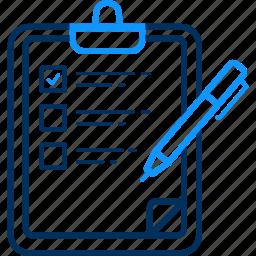 checklist, clipboard, report, tickmark icon