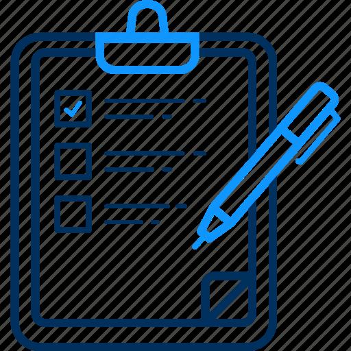 Clipboard, tickmark, checklist, report icon - Download on Iconfinder