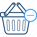 basket, cart, delete, items, remove icon