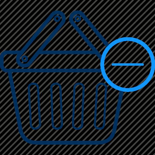 basket, cart, delete, items, remove icon